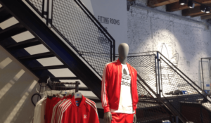 mannequin featuring clothing of leading sportswear brand