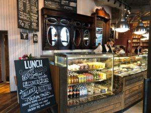 Caffe Nero Torsplan-interior counter with fridge area view