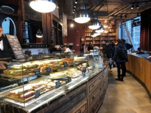 Caffe Nero Torsplan-interior counter with fresh food area view