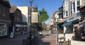 Changing face of the high street blog post image of Worthing street full of shop fronts