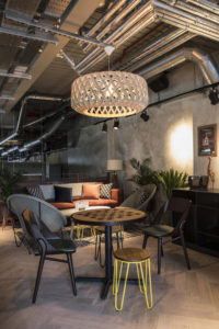 Little Creatures- interior view of seating area & lighting