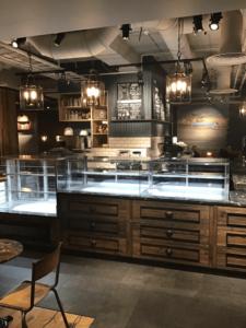 Caffe Nero- interior view of counter