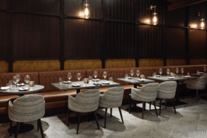 Gaucho, Charlotte Street, London wide view seating