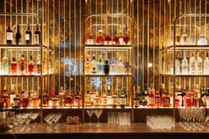Gaucho, Charlotte Street, London wide view of bar