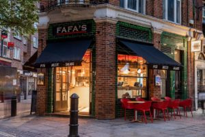 Fafa's, London-exterior view of restaurant